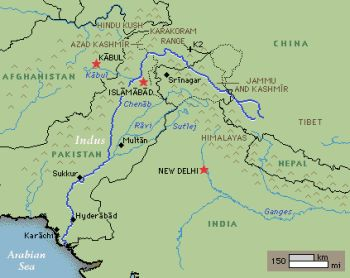 Indus River Location On World Map.Pakistanpaedia Rivers Of Pakistan